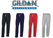 Gildan Mens Heavy Open Hem Jog Sweat Pants Bottoms Jogging Fitness Gym