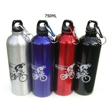 Sports Aluminium water Bottle Cycling Hiking Flask Water Drink with keyring