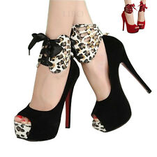 Sexy Women Platform Peep Toe Stiletto High Heel Pump Strappy Party Shoes Sandals