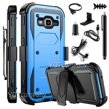 REFINED ARMOR COVER PHONE CASE & HOLSTER FOR SAMSUNG GALAXY GRAND PRIME +BUNDLE