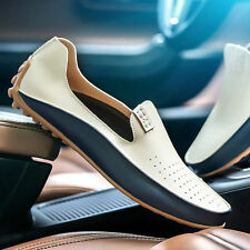 Men's Leather Driving Moccasins Shoes Slip On Loafers British Plus Size 39-47