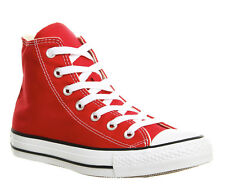 Mens Converse All Star Hi RED CANVAS Trainers Shoes