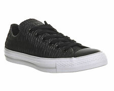 Mens Converse All Star Low Trainers BLACK RUFFLE Trainers Shoes