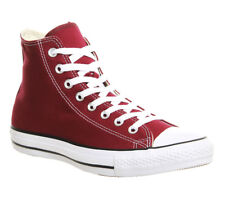 Mens Converse All Star Hi MAROON Trainers Shoes