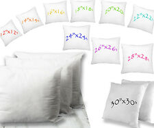 """Cushion Pads Inserts Fillers 12"""" 14"""" 16"""" 18"""" 20"""" 22"""" 24"""" 26"""" Hollowfibre Filled"""