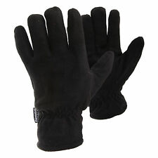 FLOSO Mens Plain Thinsulate Thermal Fleece Gloves (3M 40g)