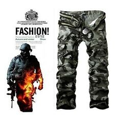 Mens Combat Military camouflage Army Camo Fashion Cargo Pants Casual Trousers
