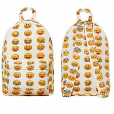 Smiley Emoji Backpack Funny Emoticon Pack School Shoulder Travel Bag Boys Girls