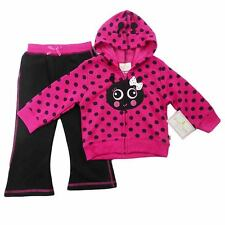Duck Goose  GIRLS Hooded jacket track pant Set Pink Cute Winter Outfit Size 1 2