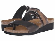 Naot Jessica Burnt Copper Leather Slide Sandal Womens sizes 5-11/36-42 NEW