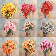 Wholesale! 10/50/100/200pcs Flower Bouquet Silk Artificial Flowers for Decor DIY