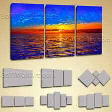Stretched Canvas Print Contemporary Wall Art Sunset Glow Landscape Ready To Hang