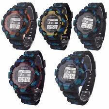 Fashion Waterproof LED Digital Date Military Sport Watch Rubber Quartz Watches