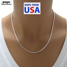 """USA Seller- 925 Sterling Silver 2mm Snake Chain 18"""" 20"""" 24"""" Necklace Jewelry"""