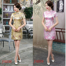 2016 Chinese Women Mini Qipao Dress Cheong-sam S M L XL 2XL 3XL 4XL 5XL 6XL