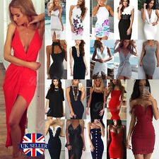 UK Sexy Womens Slim Bandage Bodycon Dress Ladies Evening Cocktail Party Dresses