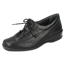 LADIES SANDPIPER DARTON ROUND TOE LACE UP FASTENING FLAT CASUAL LEATHER SHOES