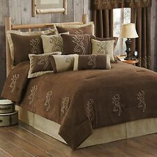 Buckmark® New Embroidered  Suede 14  pc Bed in Bag Comforter Set - Licensed
