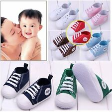 Fashion Soft Infant Toddler Sneakers Baby Boy Girl Sole Crib Canvas Shoes Casual