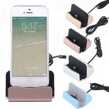 Desktop Charger Charging STAND DOCK STATION Cradle for Apple iPhone 5 5S 6 6S SE
