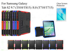 Screen Protector/ Shockproof Heavy Duty Case For Samsung Galaxy Tab S2 9.7 & 8.0