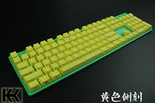 Yellow 60/87/104 Top/Side/Non PBT KeyCap Set printed for Cherry switch NPKC