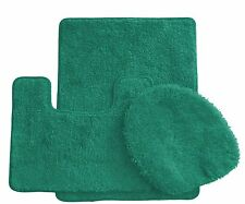 Royal Plush 3-Piece Bathroom Rug Set, Bath Mat, Contour and Toilet Cover