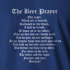 Funny Beer Drinking T-shirt Beer Prayer home brew tap glasses keg fridge xxxx vb