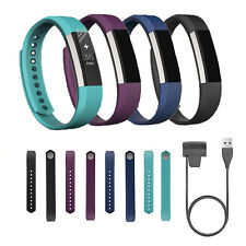 Fitbit Alta Wristband,Replacement Watch Wrist Band Strap + 1FT USB Charger Cable
