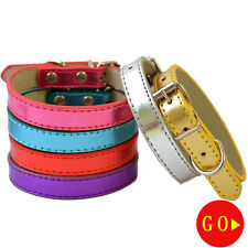 Standard Dog Collar Adjustable Buckle Leather Collar For Dogs Small Dog Necklace