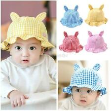 Kid Child Girl Boys Sun Hat Sunhat Cap Cotton Bonnet Rabbit Ear Hair Accessories