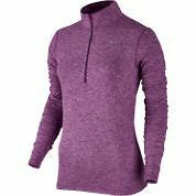 Nike Women's Dri Fit Element half zip Jacket (PURPLE)