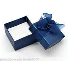 Wholesale NEW Dark blue Rings Gift Boxes Cases Display High Quality 48x48x30mm