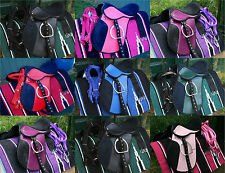 childrens saddle all purpose ,fully mounted +bridle+Bit+saddle cloth all colors