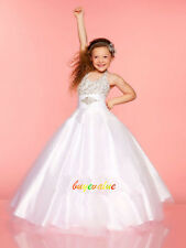 New Ivory Pink Beads Flower Girls' Dresses Girls Pageant Dresses function kid