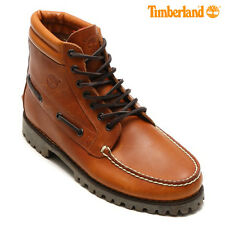 Timberland Authentic 7 Eye Chukka Brown Boots Classic Shoes RRP £160