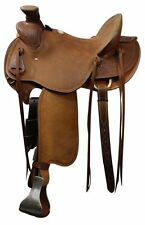 Wade Old Timer by Showman Hard Seat FQHB Roping Saddle *WARRANTIED for Roping*