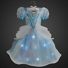 NEW! Disney Store Cinderella Light Up Costume Dress Gown Cosplay 7/8