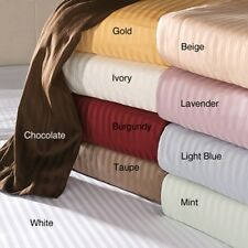 SCALA 1000TC NEW FITTED SHEET 1PC STRIPE 100% EGYPTIAN COTTON ALL SIZE & COLORS