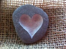 Cornish Love pebble, Carved by hand, each one unique, perfect wedding beach gift