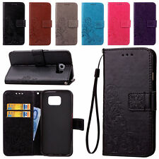 Luxury Leather Wallet Card Kickstand W/ Strap Flip Cover Case For Samsung Galaxy