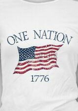 American Flag Shirt, One Nation 1776, Patriotic T-Shirt, 4th OF July, Small - 5X
