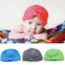 Cute Comfy Baby Girls Boys Infant Toddler Knit Crochet Cap Soft Beanie Hat cth