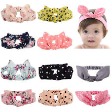 Fashion Baby Kids Girls Children Turban Rabbit Ears HairBand Knot Headband CTH