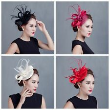 Sinamay Fascinator Hairpin Hat Cocktail Party Derby Wedding Haircilp Headband