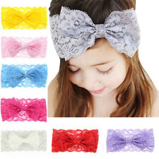 Newborn Kids Girl Baby Headband Toddler Lace Bow Flower Hair Band Accessories