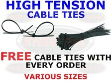 CABLE TIES VARIOUS SIZES STRONG BLACK ZIP TIE WRAPS FREE TIES WITH EVERY ORDER