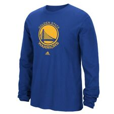 Golden State Warriors Adidas NBA Full Primary Logo Long Sleeve T-Shirt - Blue