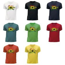 STUFF4 Boy's Round Neck T-Shirt/Ghana/Ghanaian Flag Splat/CS