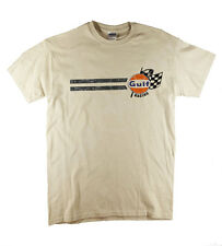 Gulf Racing Steve McQueen Classic Vintage Retro Print Natural T-shirt